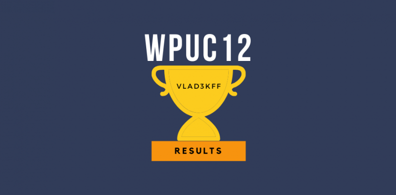 WPUC12 – results of the main UPPERS tournament in 2020